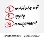 ism   institute of supply... | Shutterstock .eps vector #780103060