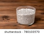 chia seed pudding in glass on... | Shutterstock . vector #780103570