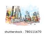 doha city skyline  qatar.... | Shutterstock .eps vector #780111670