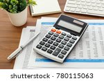 financial accounting with... | Shutterstock . vector #780115063