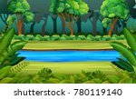 forest and river | Shutterstock .eps vector #780119140