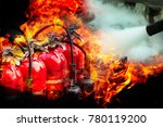 fire extinguishers are ready... | Shutterstock . vector #780119200
