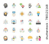 flat icons set of artificial... | Shutterstock .eps vector #780121168