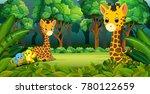two giraffe in the forest   Shutterstock .eps vector #780122659