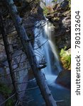 Small photo of Baring Creek Falls, Glacier National Park, Montana, United States of America, North America