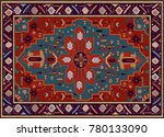 persian carpet  tribal vector... | Shutterstock .eps vector #780133090