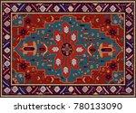 persian carpet  tribal vector... | Shutterstock .eps vector #780133090
