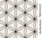 vector seamless lattice pattern.... | Shutterstock .eps vector #780134113