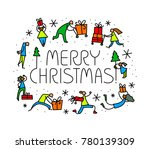 christmas greeting card with... | Shutterstock .eps vector #780139309