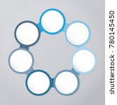 circle infographic template... | Shutterstock .eps vector #780145450