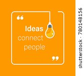 idea quote with light bulb with ... | Shutterstock .eps vector #780148156