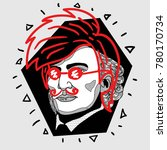 modern portrait of composer and ...   Shutterstock .eps vector #780170734
