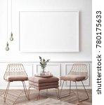 living room interior wall mock... | Shutterstock . vector #780175633