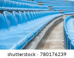 Empty Rows With Blue Seats On ...