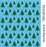 christmas tree background and... | Shutterstock .eps vector #780182926