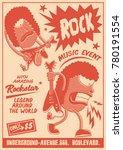 gig poster template vintage... | Shutterstock .eps vector #780191554