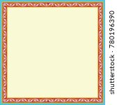 arabic floral frame.... | Shutterstock .eps vector #780196390