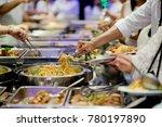 buffet food. catering food... | Shutterstock . vector #780197890