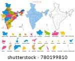 illustration of detailed map of ... | Shutterstock .eps vector #780199810
