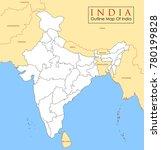 illustration of detailed map of ...   Shutterstock .eps vector #780199828