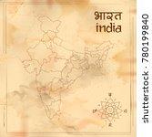 illustration of detailed map of ... | Shutterstock .eps vector #780199840