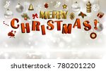 light christmas background with ... | Shutterstock .eps vector #780201220