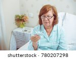 senior woman in glasses ... | Shutterstock . vector #780207298