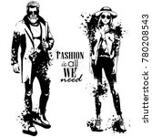 vector woman and man fashion | Shutterstock .eps vector #780208543
