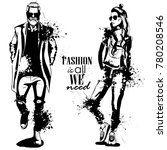 vector woman and man fashion | Shutterstock .eps vector #780208546