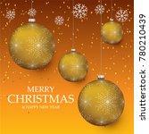 christmas light vector... | Shutterstock .eps vector #780210439