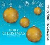 christmas light vector... | Shutterstock .eps vector #780213163