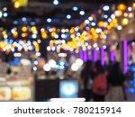 bokeh colorful lights | Shutterstock . vector #780215914