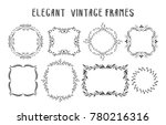 collection of hand drawn floral ... | Shutterstock .eps vector #780216316