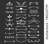 elegant flourish dividers. hand ...   Shutterstock .eps vector #780223759