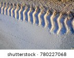 Small photo of Wheel trace on salt