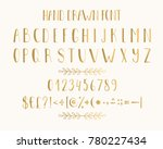golden hand drawn letters and... | Shutterstock .eps vector #780227434