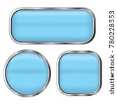 blue buttons set isolated on a... | Shutterstock .eps vector #780228553