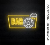 sport bar neon sign isolated on ... | Shutterstock .eps vector #780228700