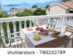 romantic dinner table in...   Shutterstock . vector #780232789