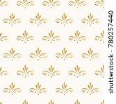 golden vintage pattern. hand... | Shutterstock .eps vector #780257440