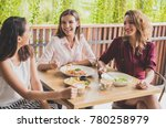 close up portrait of group of... | Shutterstock . vector #780258979