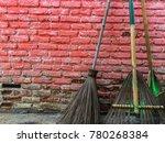 stick brooms the brooms make...   Shutterstock . vector #780268384
