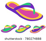 women summer slippers | Shutterstock .eps vector #780274888