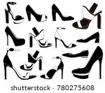 elegant women shoes | Shutterstock .eps vector #780275608