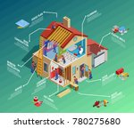 home repair isometric... | Shutterstock . vector #780275680
