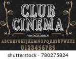 vintage font handcrafted vector ... | Shutterstock .eps vector #780275824