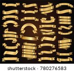 retro golden ribbons and labels ... | Shutterstock .eps vector #780276583
