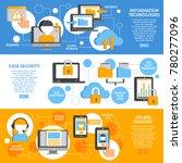 information technologies flat... | Shutterstock . vector #780277096