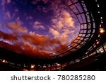 clouds over the new stadium | Shutterstock . vector #780285280
