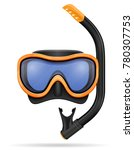 diving mask stock vector... | Shutterstock .eps vector #780307753